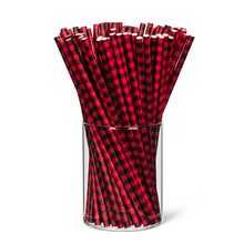 Load image into Gallery viewer, Paper Straws - Buffalo Check