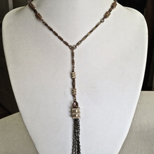 Load image into Gallery viewer, Bloc Drop Lariat Tassel Necklace
