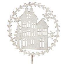 Load image into Gallery viewer, Christmas Decor House - Metal/Silver