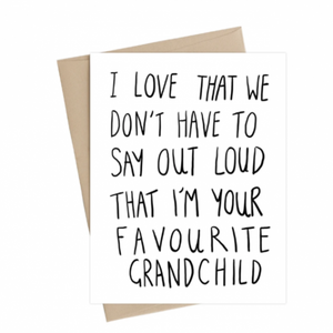 Favourite Grandchild - Card