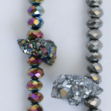 Load image into Gallery viewer, Soul Sparkle Choker - Rainbow Silver + Titanium Quartz
