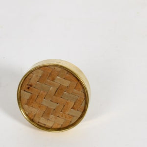 Wood & Brass Knob