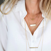 Load image into Gallery viewer, Luxe Rectangle Necklace - Gold