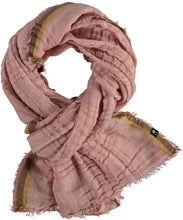 Load image into Gallery viewer, Open Weaves Plaid Scarf - Salmon