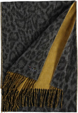Load image into Gallery viewer, Two Tone Leo Woven Cashmink® Scarf - Mid Grey