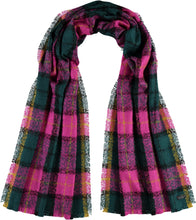 Load image into Gallery viewer, Punk Tartan Scarf - Dark Petro