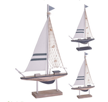 Load image into Gallery viewer, Blue Sailing Boat