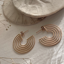 Load image into Gallery viewer, Lo-Fi Hoop Earrings Rose Gold