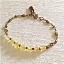 Load image into Gallery viewer, Indira Ornate Brass Chain Bracelet