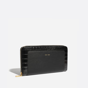 Emma Zip Wallet - Black Crock