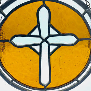 Stained Glass - Amber Cross