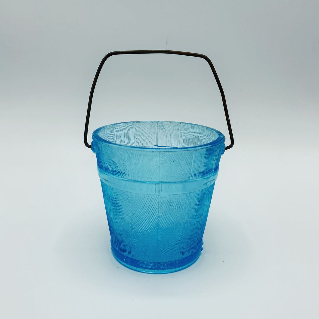 Blue Glass Bucket