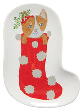 Load image into Gallery viewer, Meowy Christmas - Shaped Dish Set of 3