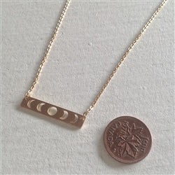 Synodic Moon Phase Charm Necklace