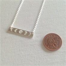 Load image into Gallery viewer, Synodic Moon Phase Charm Necklace