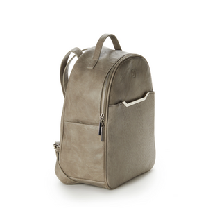 Autumn Textured Front Backpack - Cement