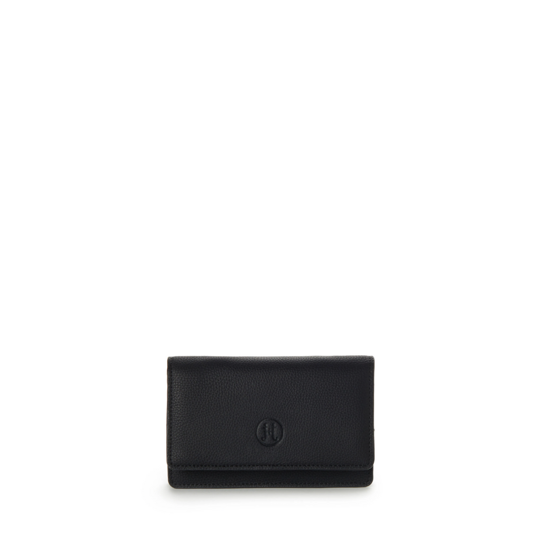 Ava Wallet Clutch Crossbody - Black