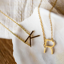 Load image into Gallery viewer, Asymmetrical Letter Necklaces - Gold