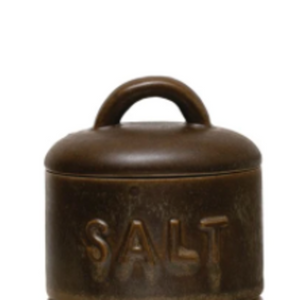 Stoneware Salt Container