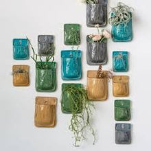 Load image into Gallery viewer, Terracotta Wall Planter - Turquoise