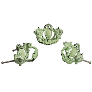 Victorian Handle Distressed Green