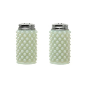 White Milk Glass Hobnail Salt & Pepper Shakers