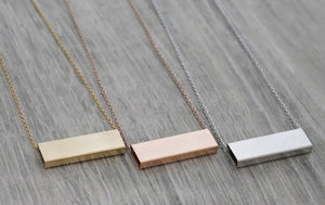 Luxe Rectangle Necklace - Gold