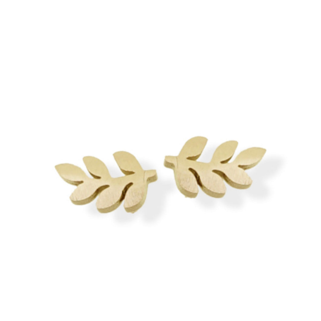 Leaf Stud - Gold