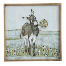 Load image into Gallery viewer, Framed Canvas Donkey Picture