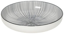 Load image into Gallery viewer, Stamped Shallow Bowl - Etched Lines Black