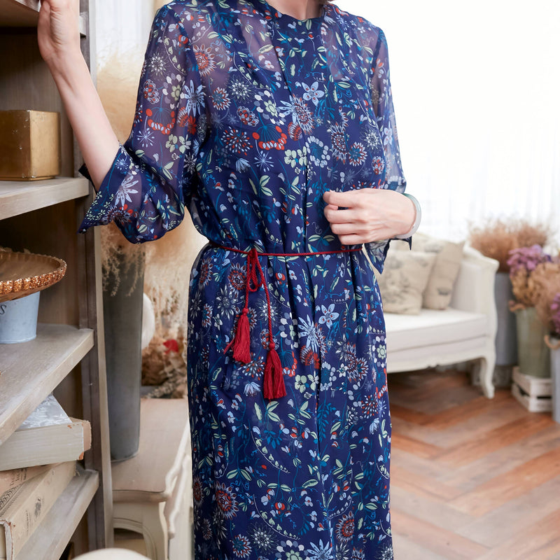 (Mommy & Me) Floral Tunic Dress (woman size) - Xoomkart