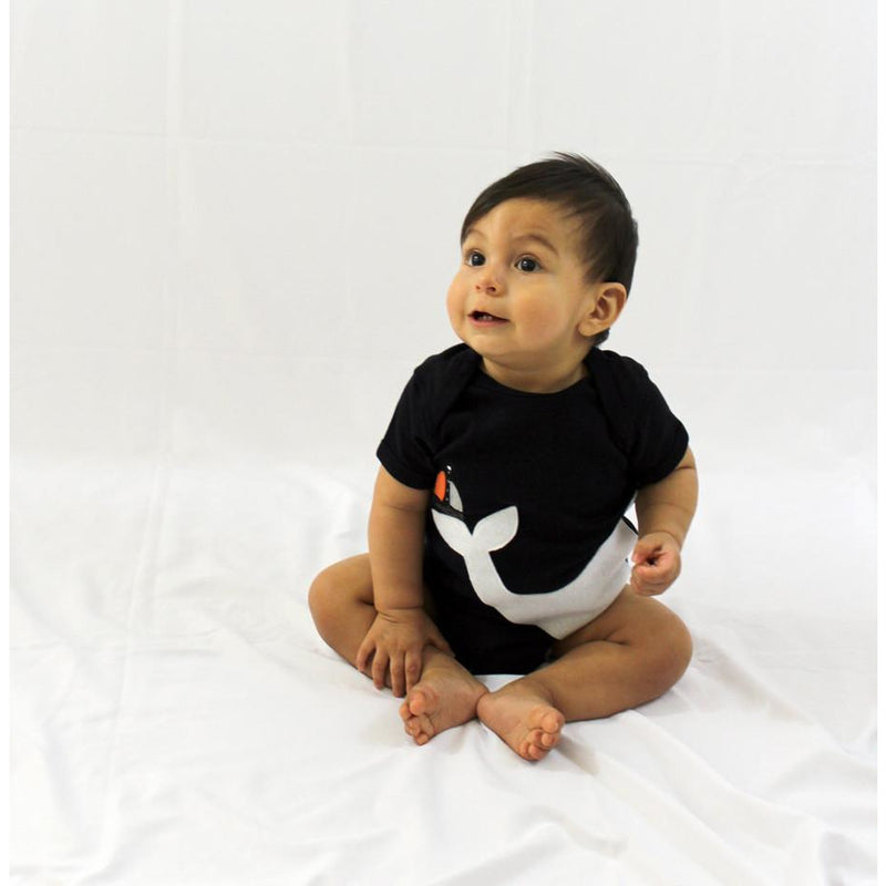 Baby Onesie - Big Whale and Little Sailboat - Xoomkart