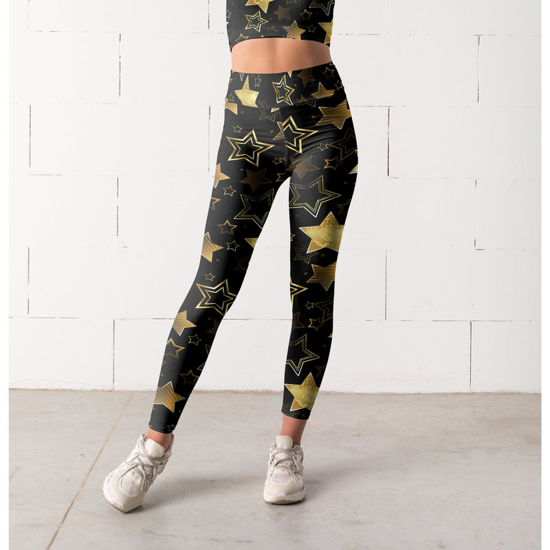 Gold Star Leggings, Capris and Shorts - Xoomkart