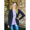 Navy Dot Snap Cardigan - Xoomkart