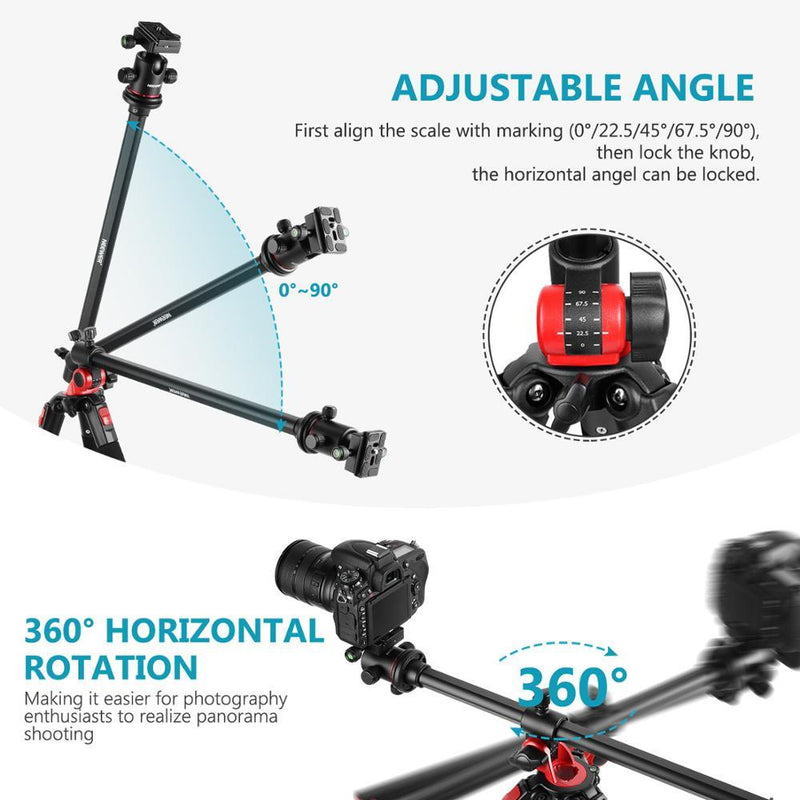 Camera Tripod Monopod with 360 Degree Rotatable Center Column and Ball - Xoomkart