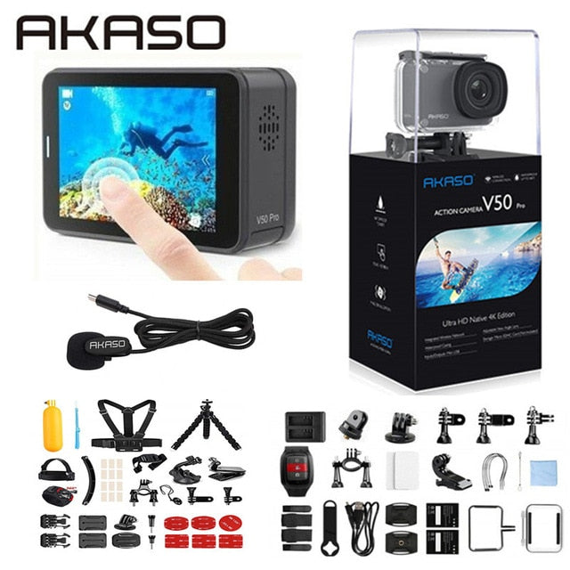 AKASO V50 Pro Native 4K/30fps 20MP WiFi Action Camera - Xoomkart