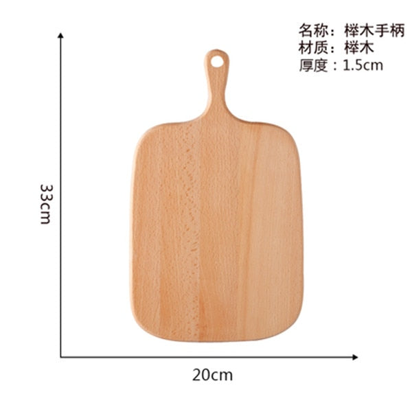 Kitchen Chopping Board With Handle Wood Food Plate