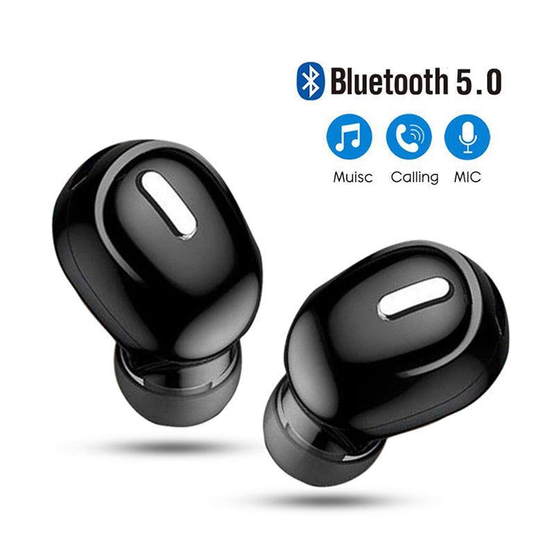 Mini In-Ear 5.0 Bluetooth Earphone HiFi Wireless Headset - Xoomkart
