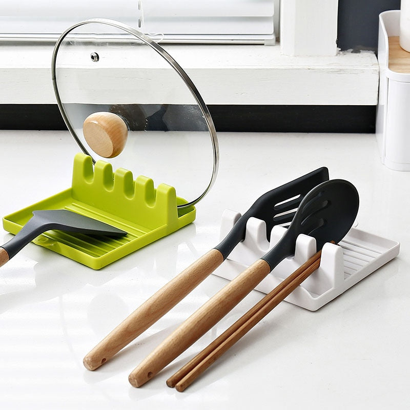Kitchen Spoon Holders Fork Spatula Rack Shelf Organizer Plastic Spoon
