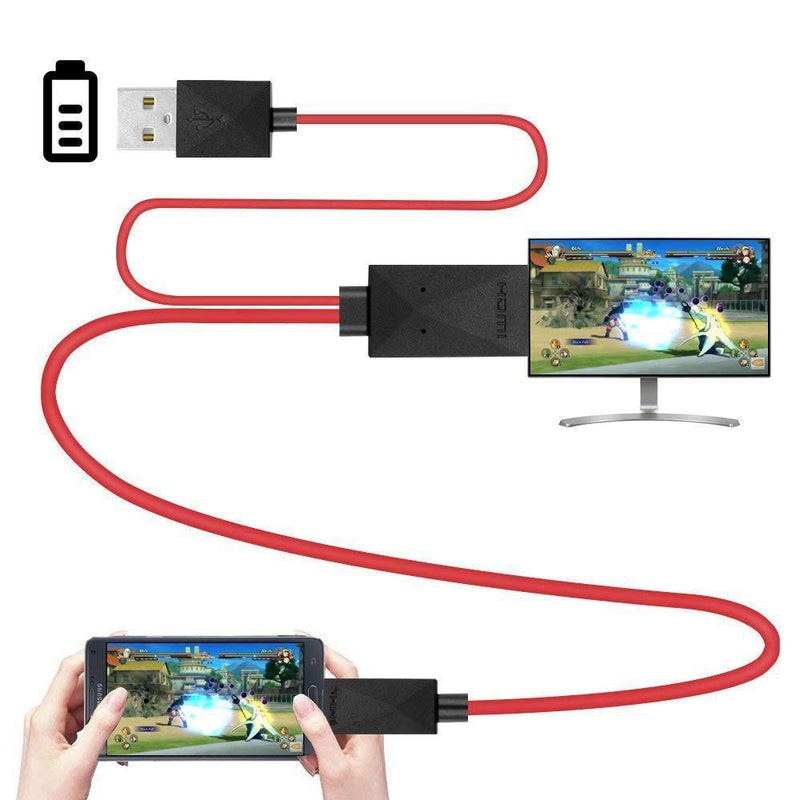 6.5 Feet MHL Micro-USB to HDMI Adapter Converter Cable