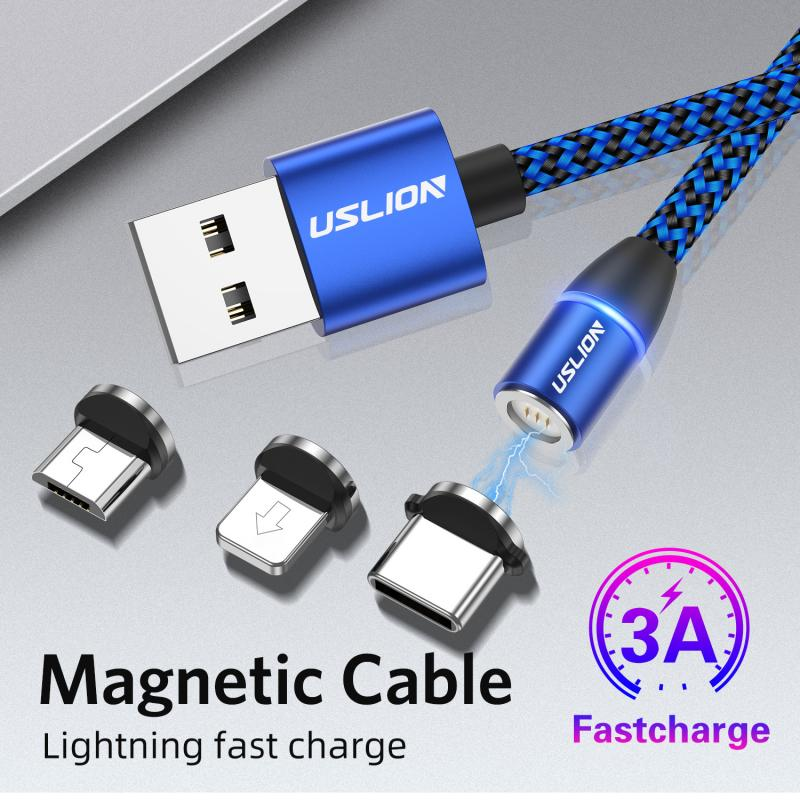 3 in 1 Mobile Magnetic Cable Charger Suitable For iPhone Android - Xoomkart