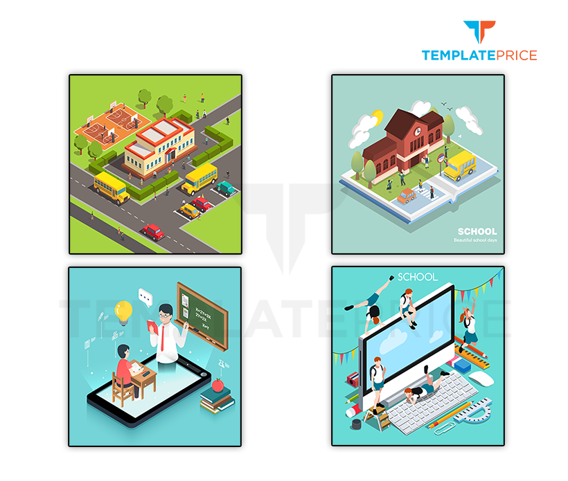 Education and School Isometric