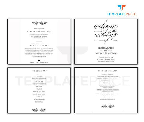 OK Wedding Program folded