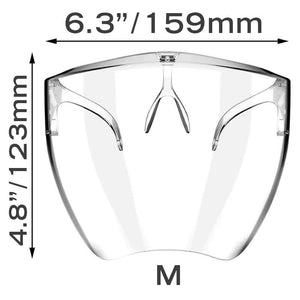 Transparent Reusable Protective Shield-Glasses