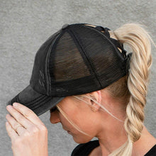 Load image into Gallery viewer, 🔥Hot Sale 🔥2020 new mesh cross cutout Ponytail baseball cap