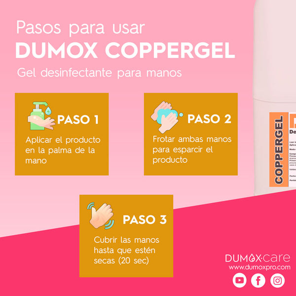 DUMOX - CopperGel - Gel desinfectante de manos