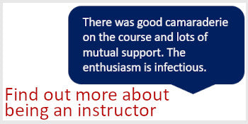 Find out about becoming an instructors
