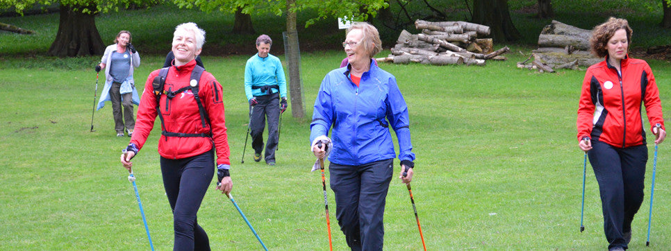 Nordic walking group exercise instructor