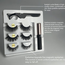 Load image into Gallery viewer, 3d Magnetic Eyelashes - Waterproof Magnetic Eyeliner and Tweezers - Ainnabila ∣ Underwear Storage Box Compartment