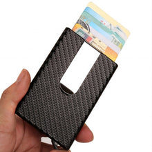 Load image into Gallery viewer, Carbon Fiber Card Holder Anti Rfid Minimalist Credit Card Holder - Ainnabila ∣ Underwear Storage Box Compartment